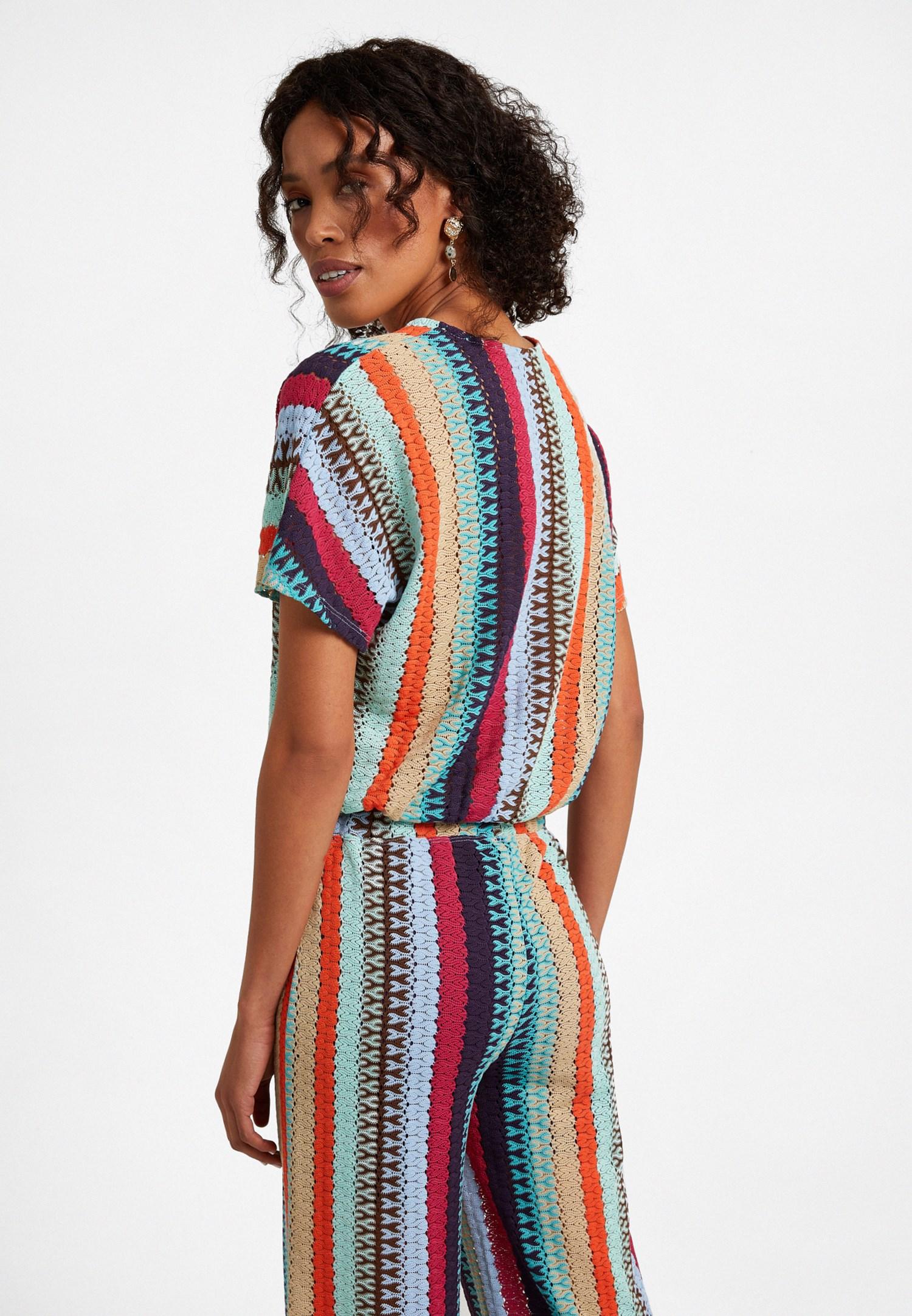Bayan Çok Renkli Anvelop Bluz