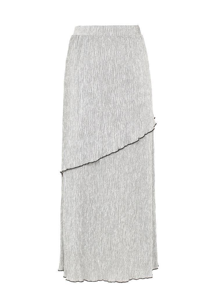 Pili Detaylı Uzun Etek