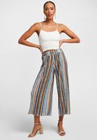 Women Mixed Culotte Trousers