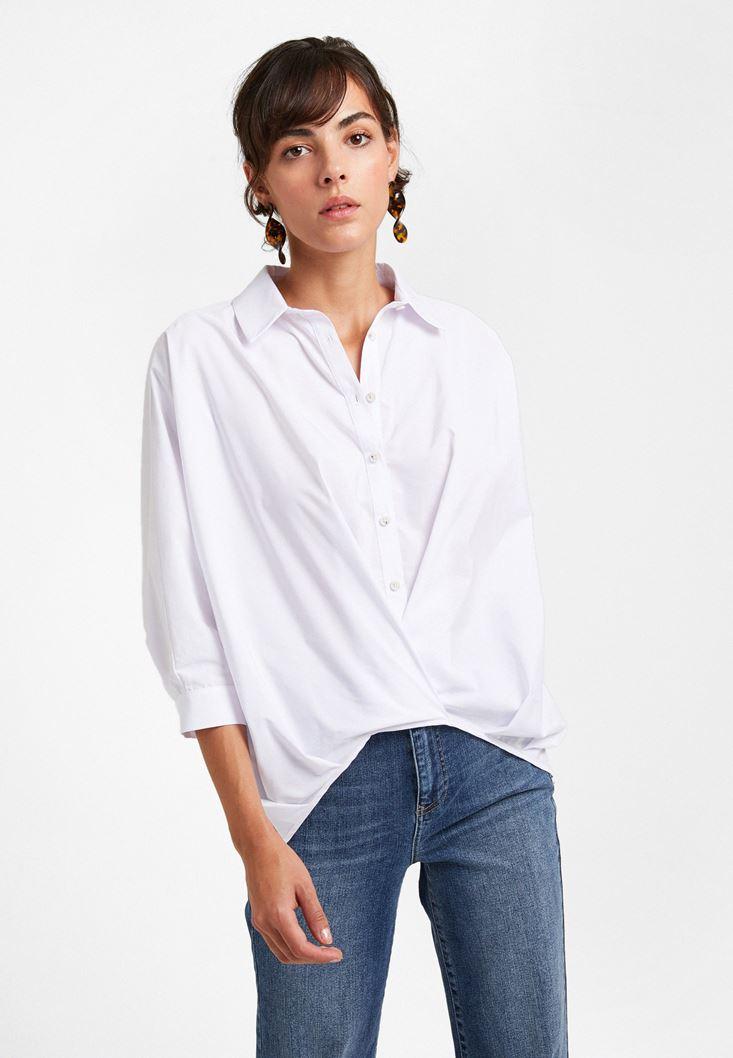 Beyaz Poplin Gömlek