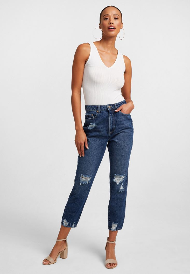 Ultra High-Rise Mom Jeans
