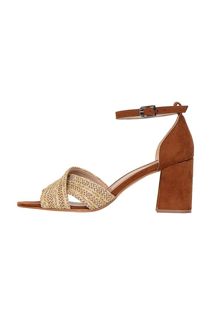 Hasır Detaylı Topuklu Ayakkabı
