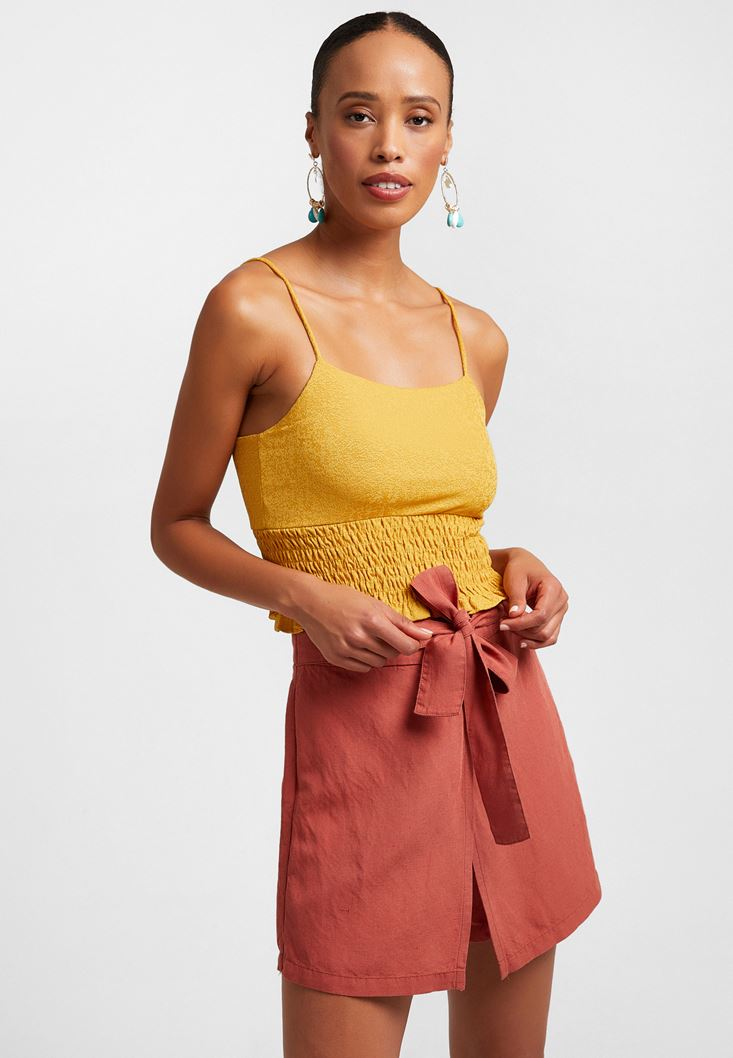 Yellow Textured Top