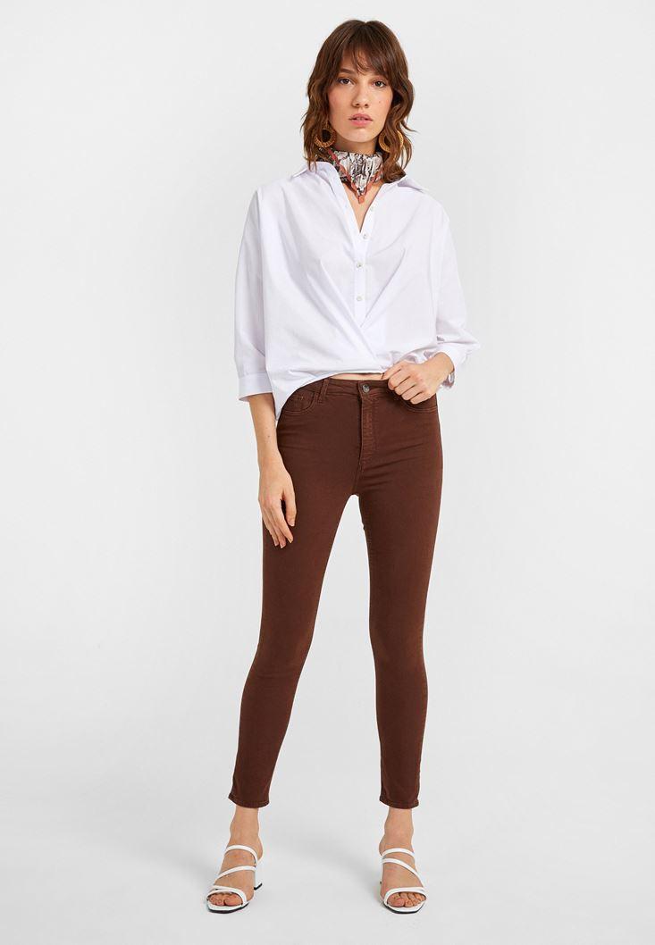 High Rise Skinny Trousers
