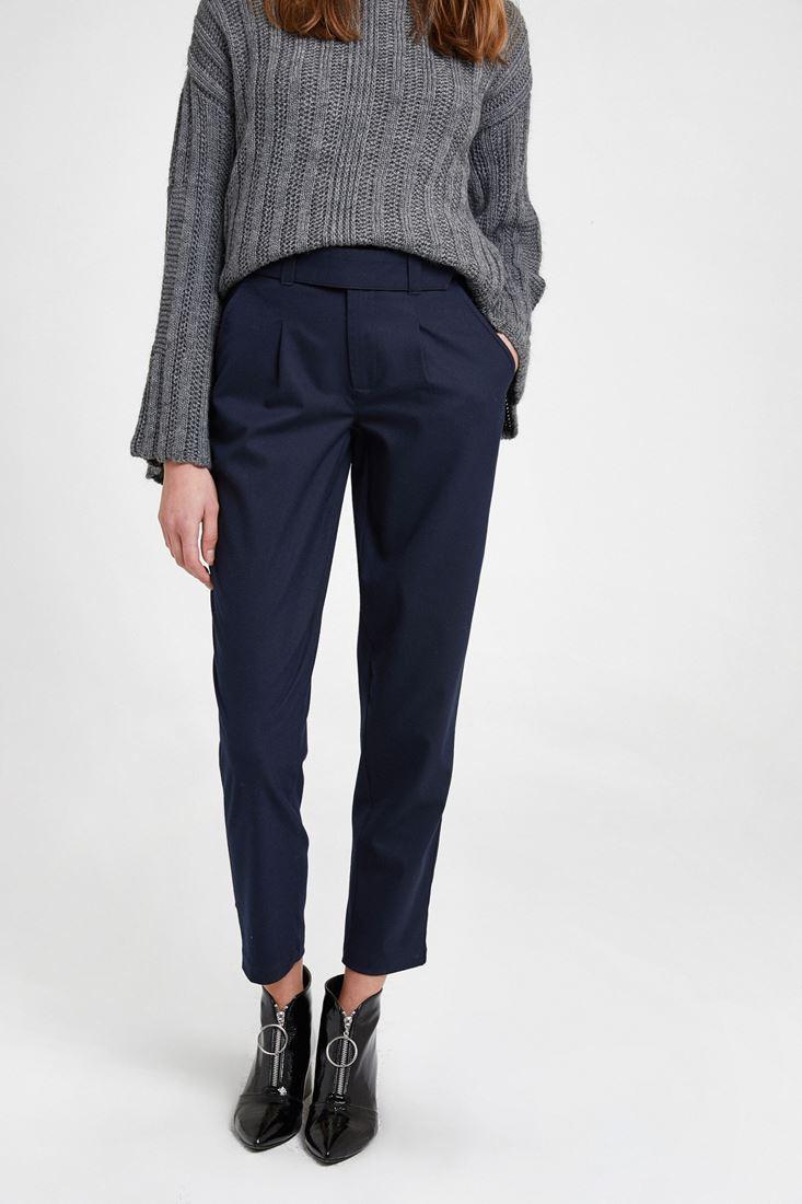 Lacivert Cepli Kemer Detaylı Pantolon