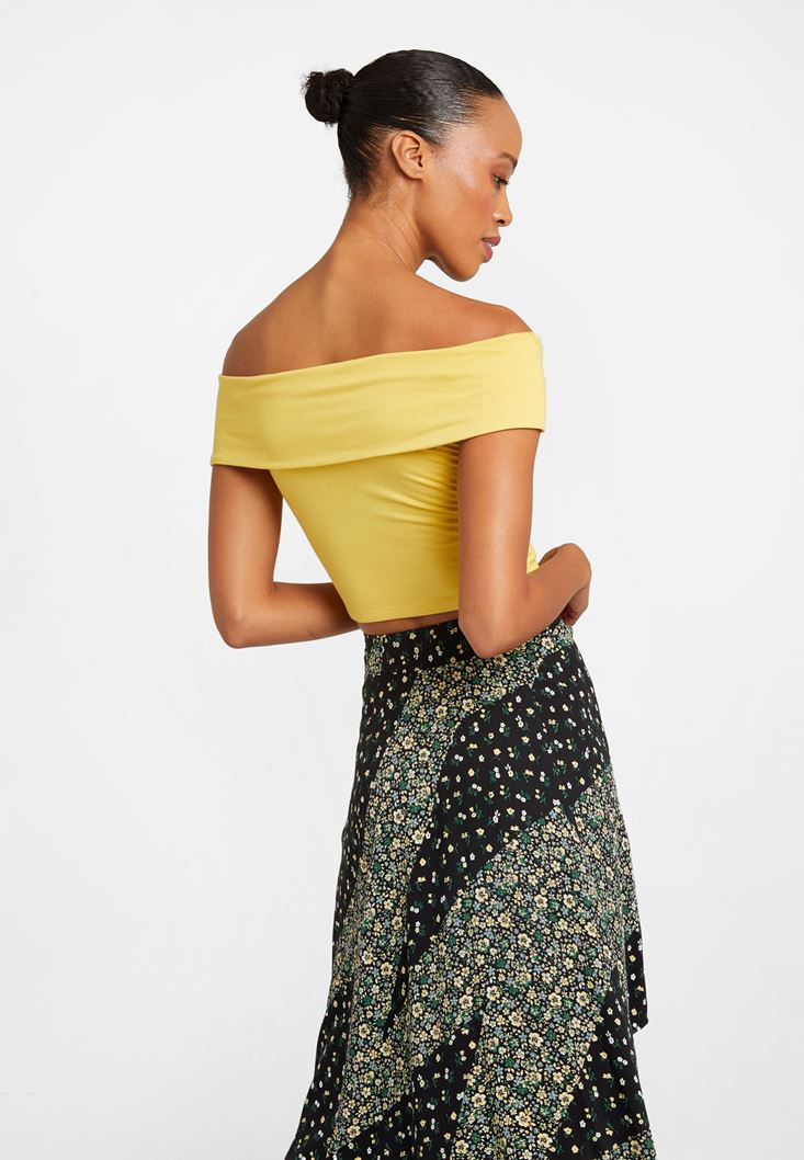 Yellow Off-Shoulder Top