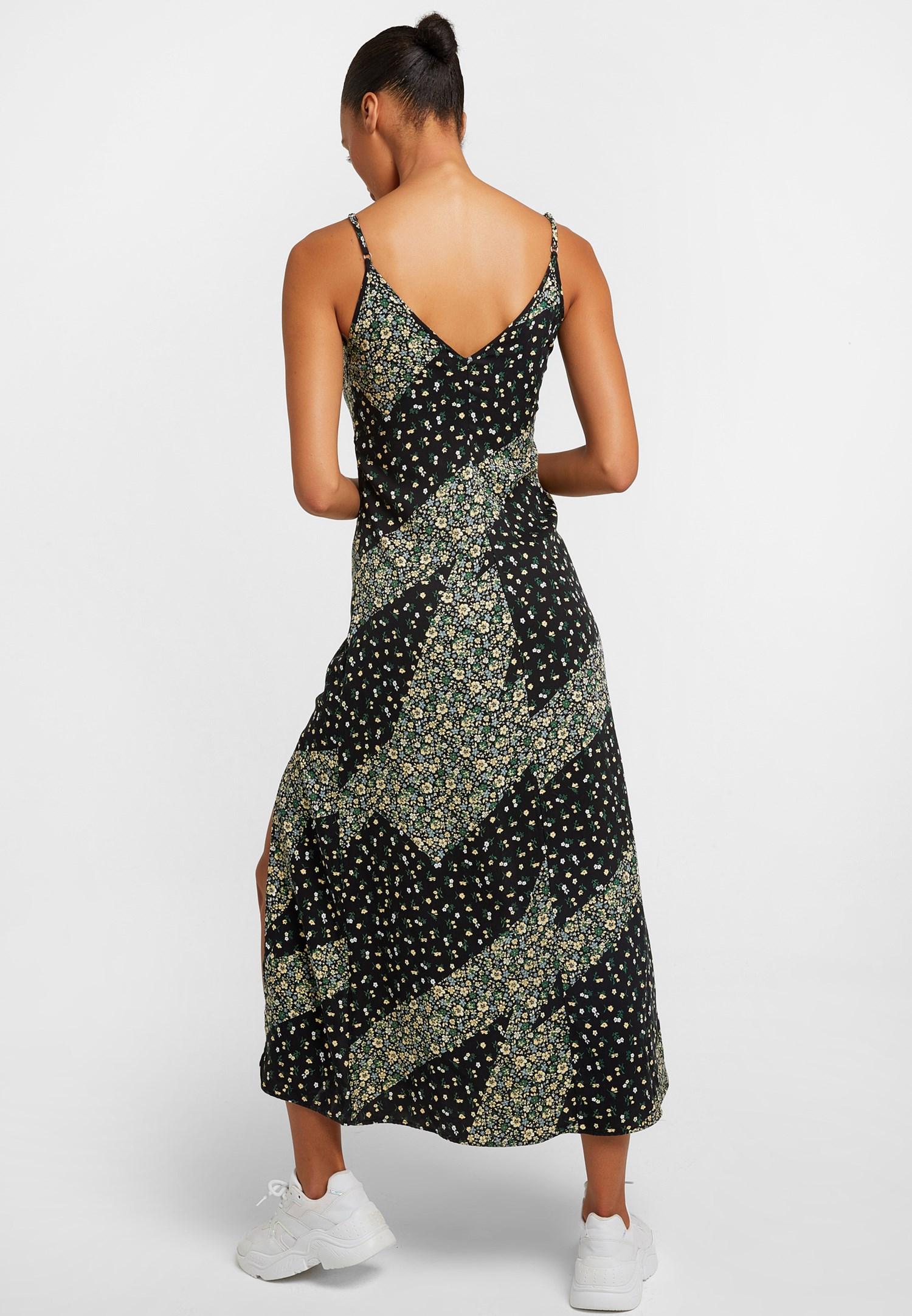 Women Mixed Floral Long Dress