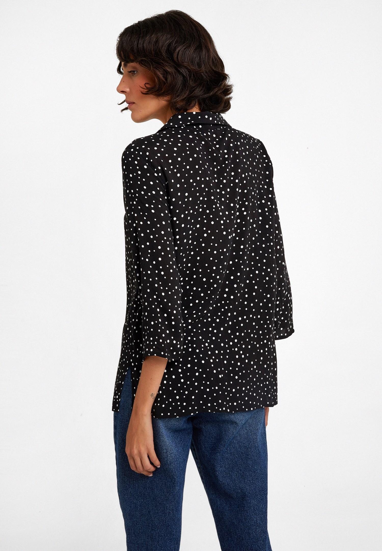Bayan Çok Renkli Desenli Gömlek
