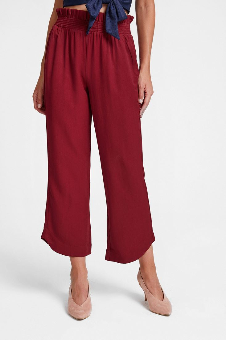 Bordeaux Elastic-Waisted Trousers