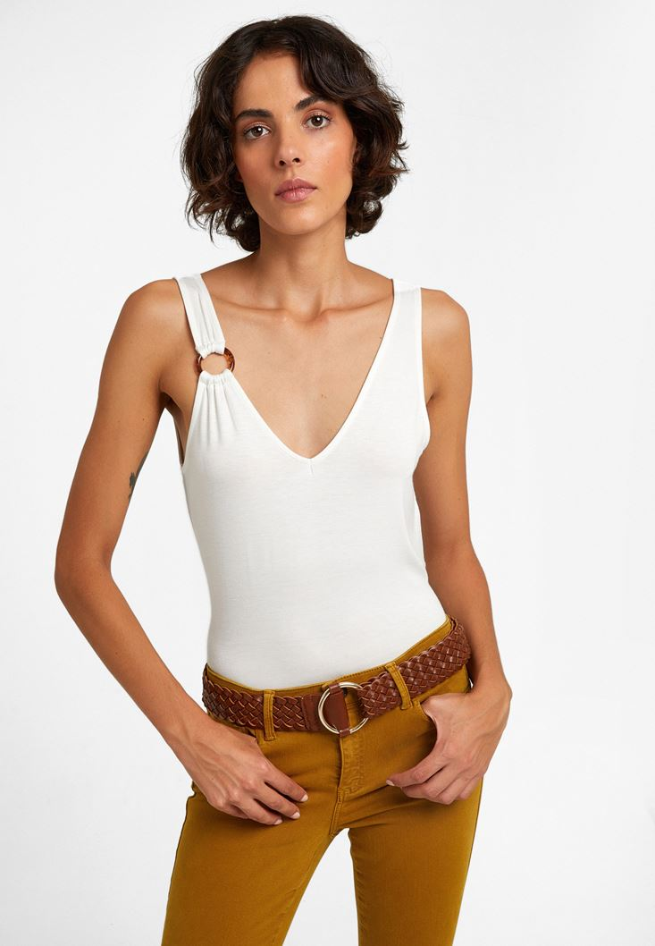 Neck Detailed Top