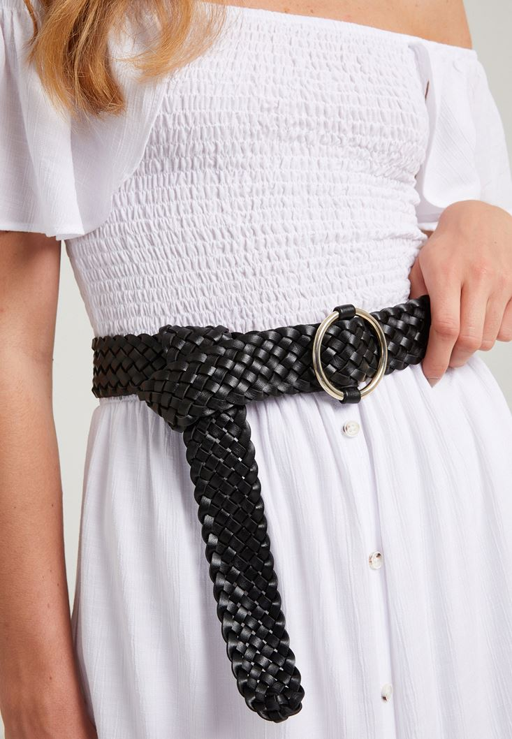 Black Braid Belt