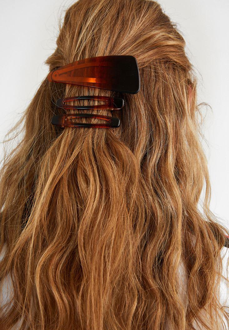 Brown Hair Clip Set