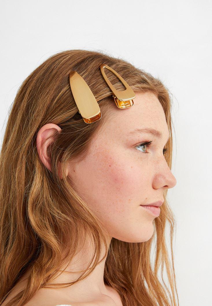 Gold Hair Clip Set