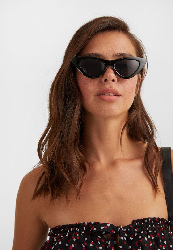 Black Cat-Eye Sunglasses