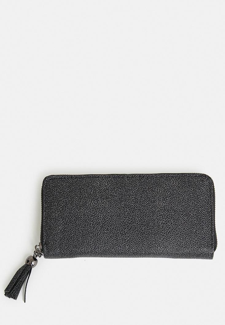 Black Shimmery Fringe Wallet