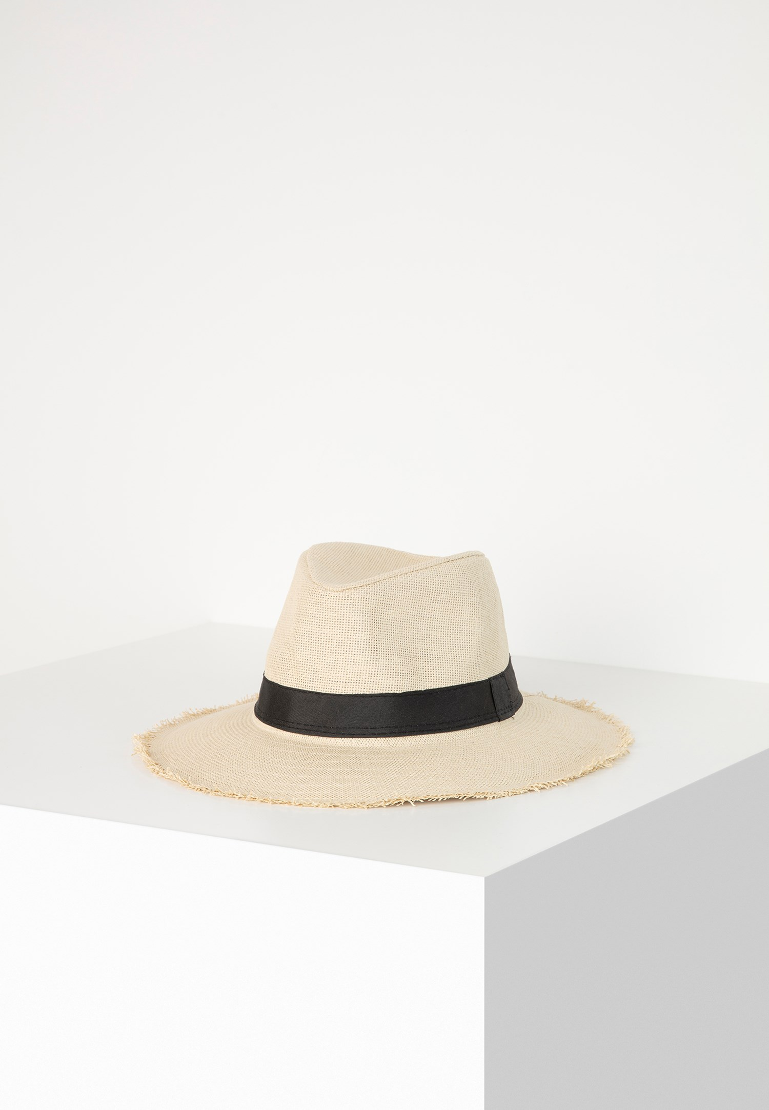Bayan Krem Hasır Şapka