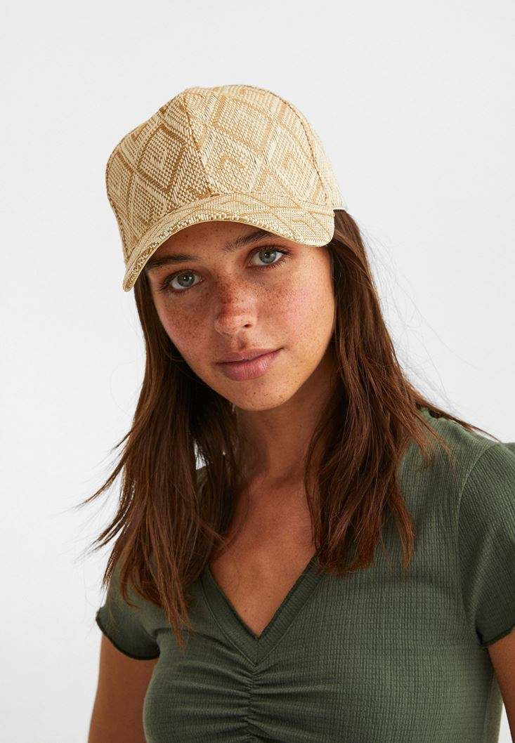 Mixed Straw Cap