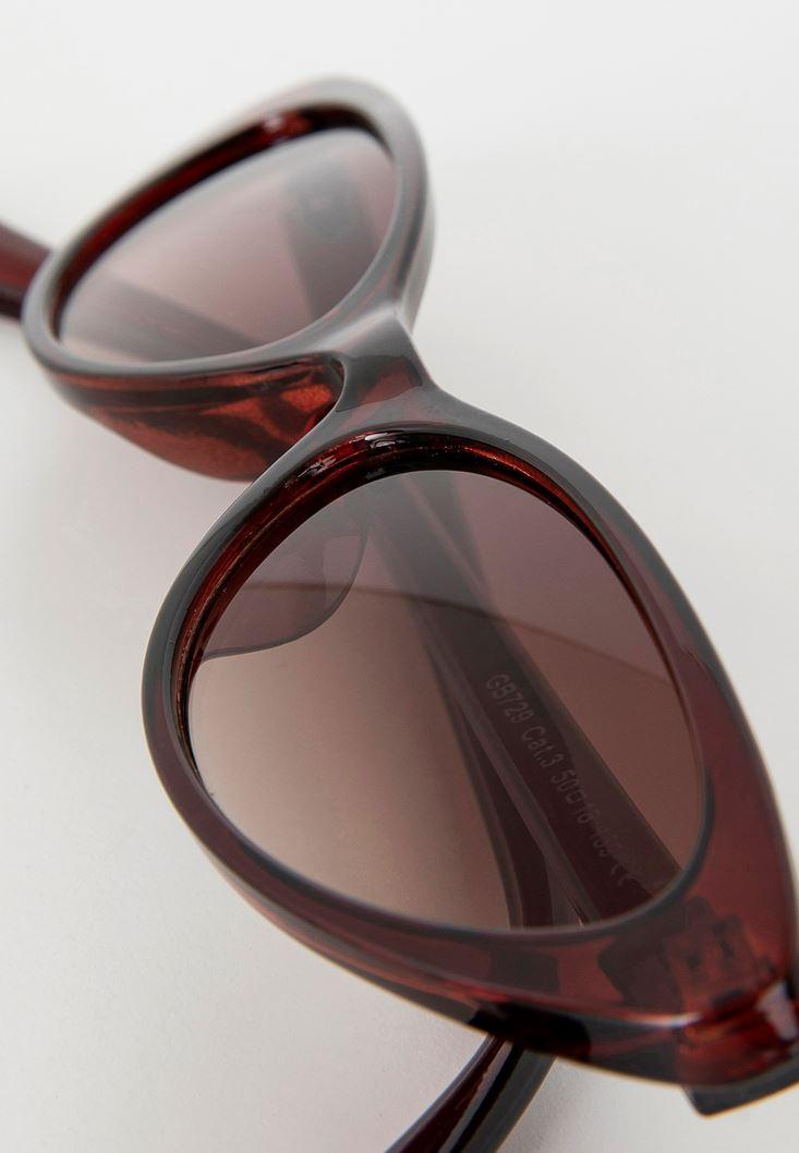 Kahverengi Cat Eye Güneş Gözlüğü