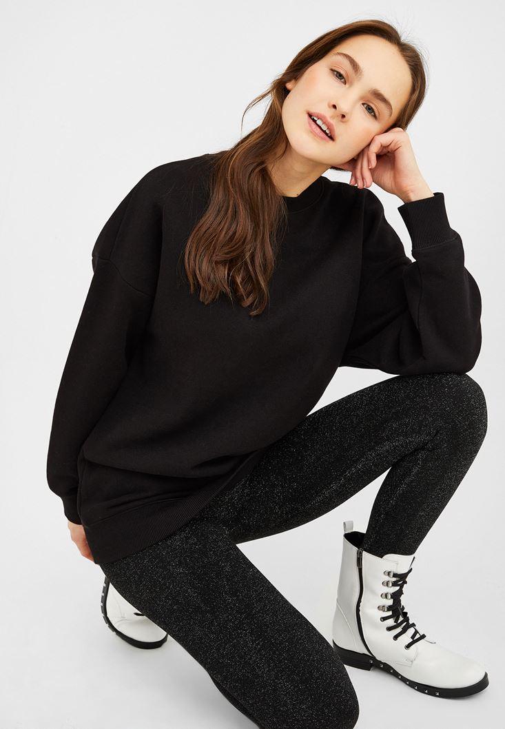 Siyah Oversize Sweatshirt