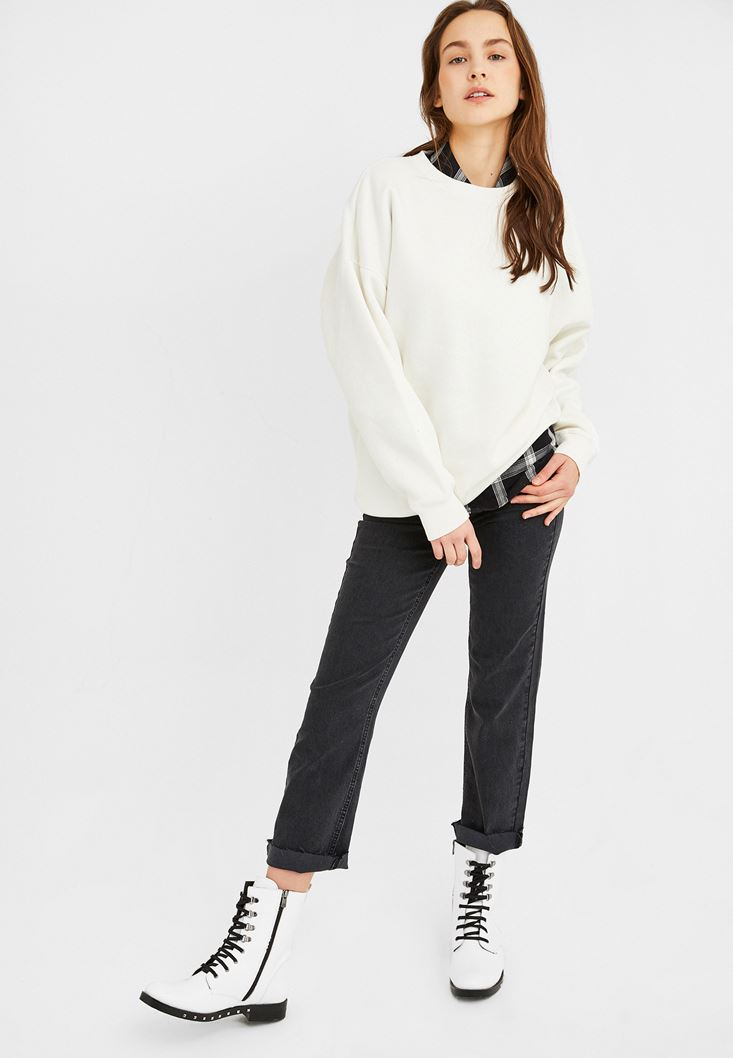 Cream Oversize Sweatshirt
