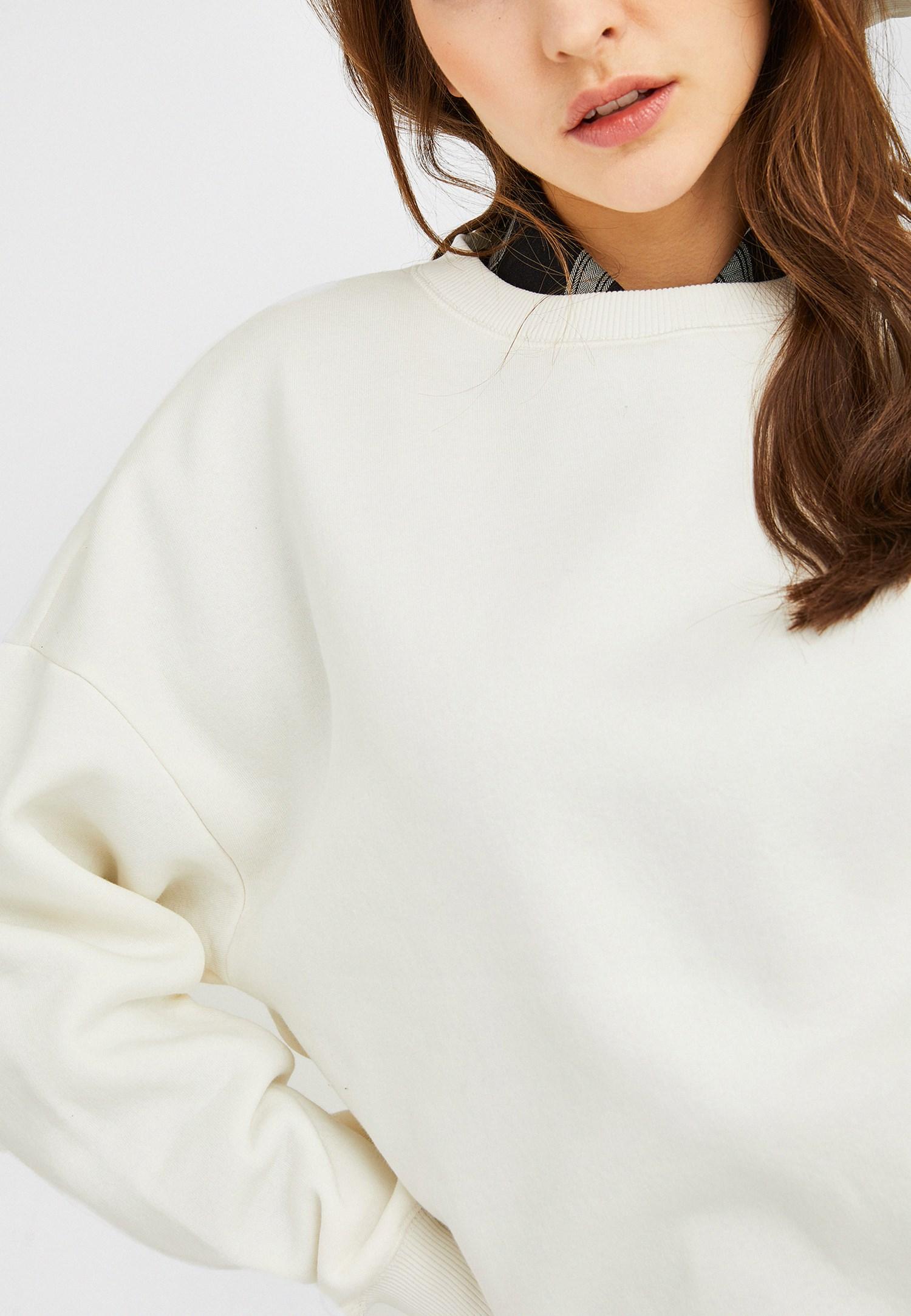 Bayan Krem Oversize Sweatshirt