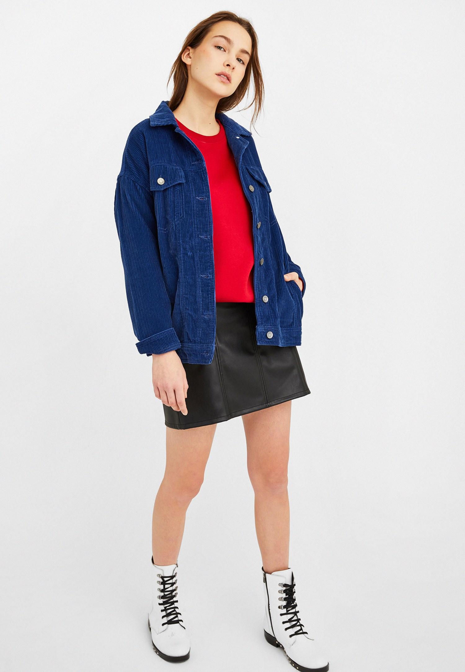 Bayan Kırmızı Oversize Sweatshirt