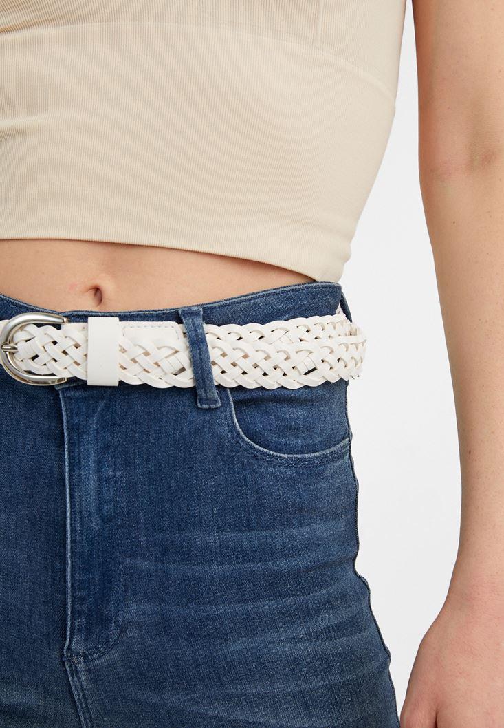 White Braided Belt