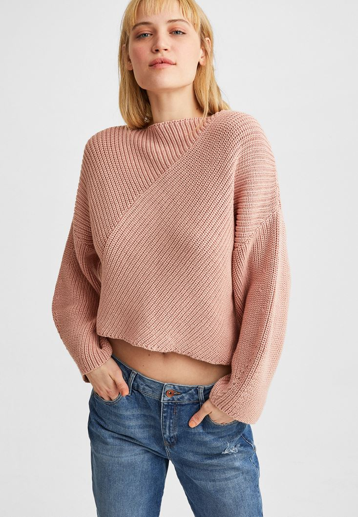 Pink Asymmetric Knitwear