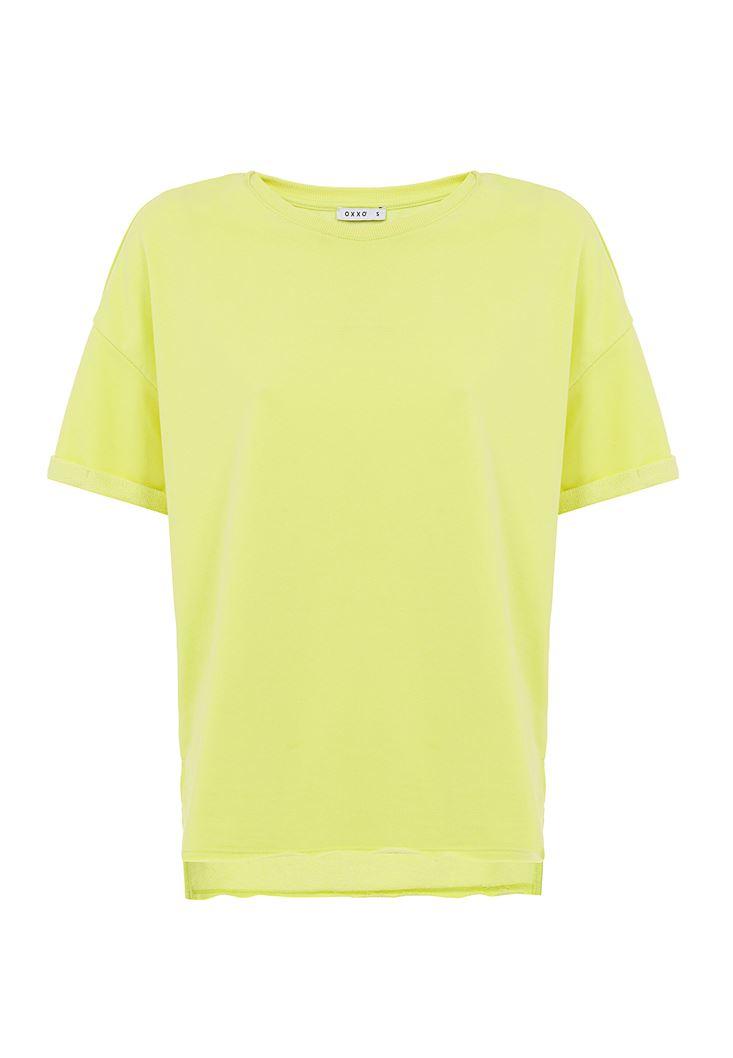 Sıfır Yaka Oversize Tişört