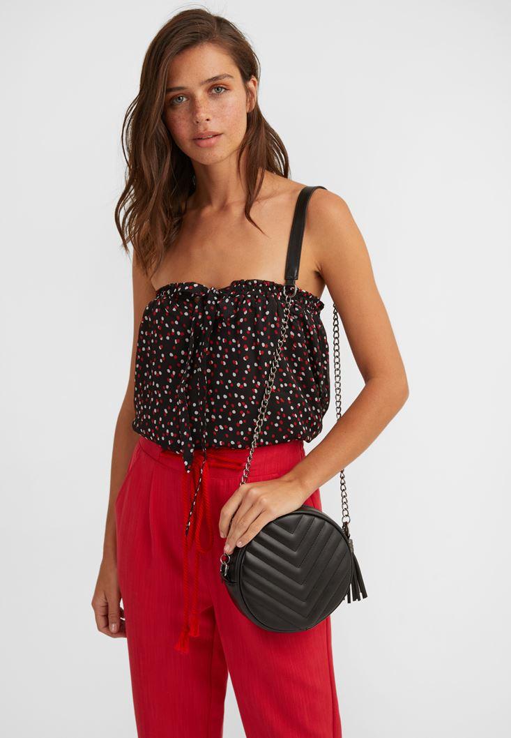 Mini Shoulder Bag with Fringe