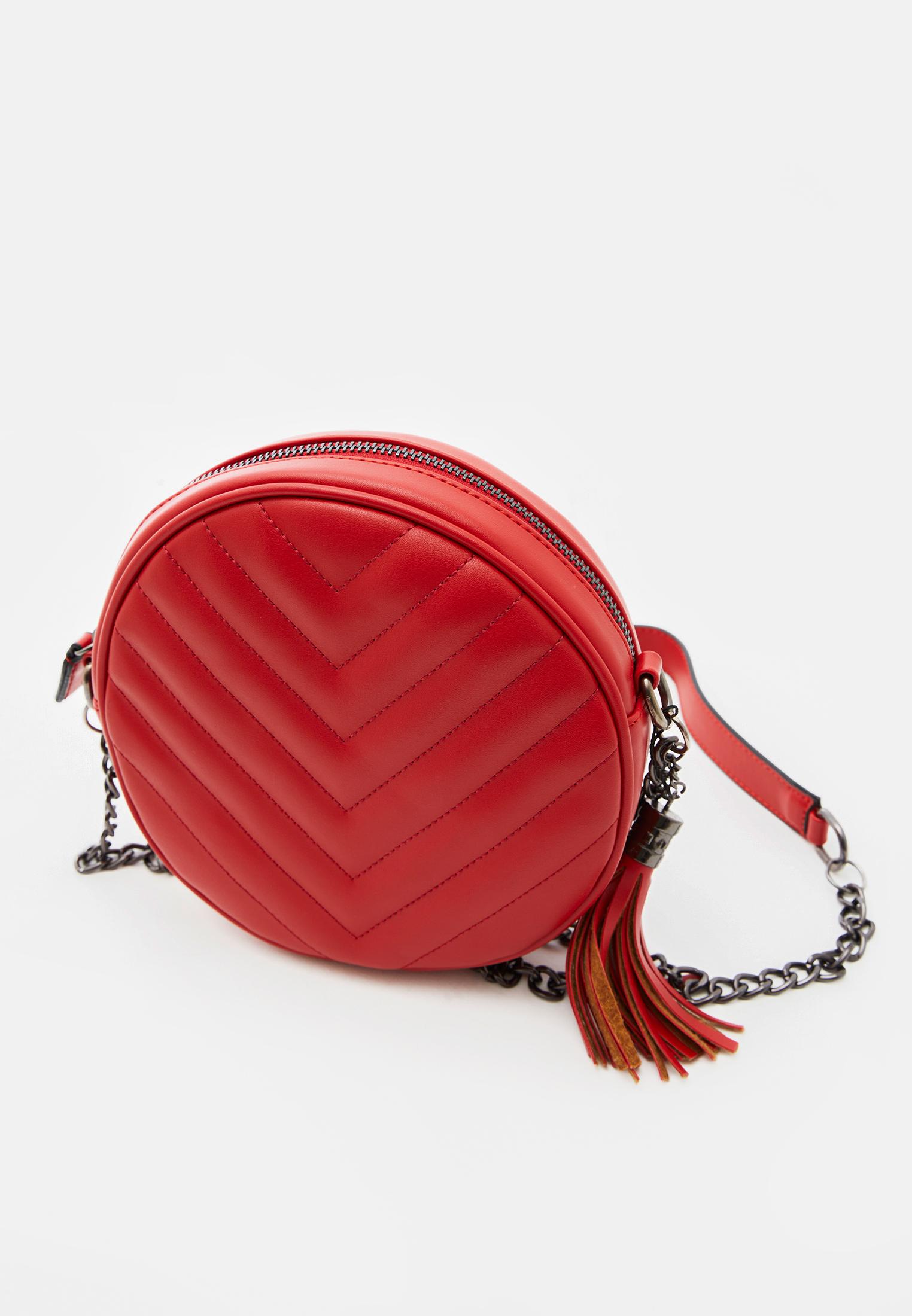 Bayan Kırmızı Püsküllü Askılı Çanta