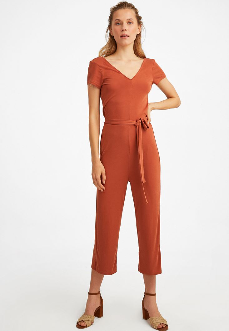 Brown Extra Soft Belted Overall