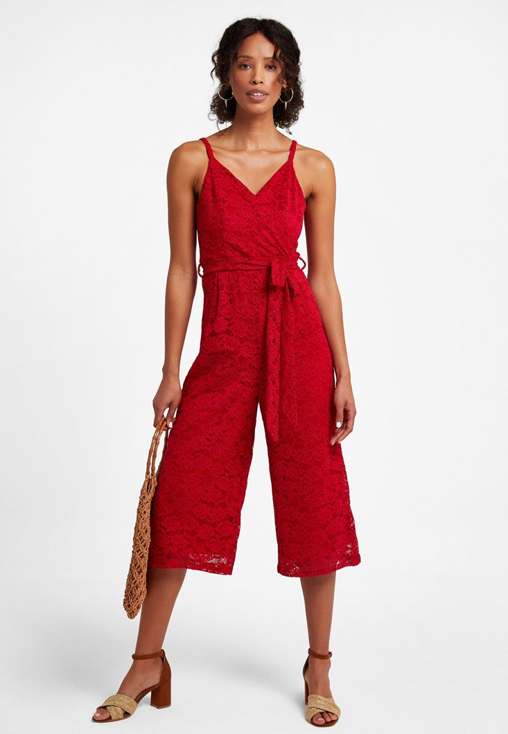 Red Crossover Overall