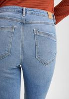 Women Blue Destroyed Bootcut Jeans