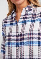 Bayan Çok Renkli Desenli Pamuk Gömlek