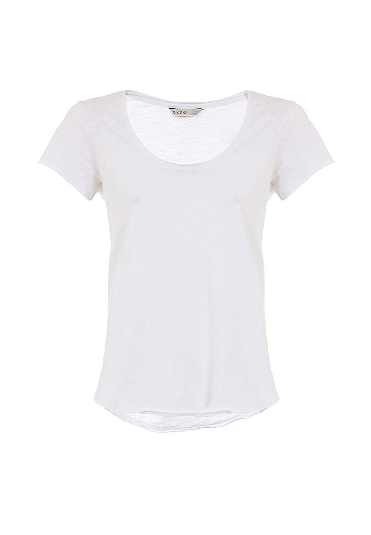 Basic T-shirt with U Neck Details