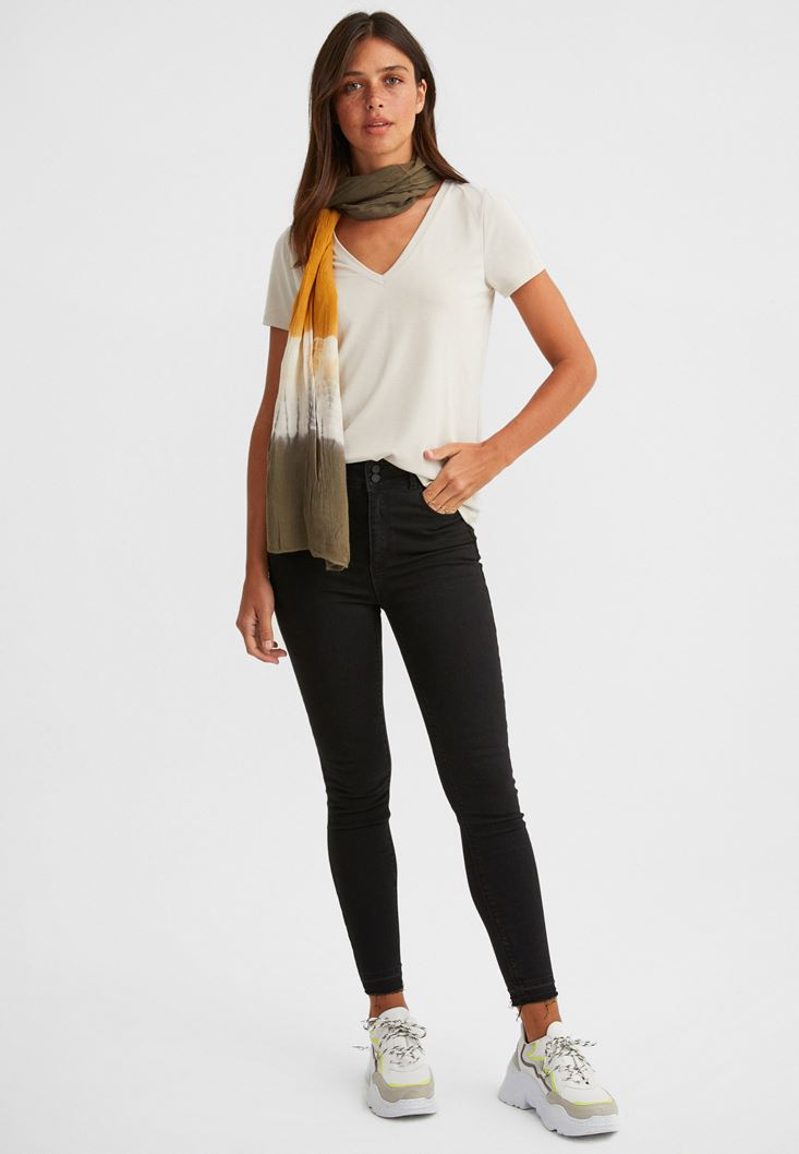 Black Skinny Jean with High Waist