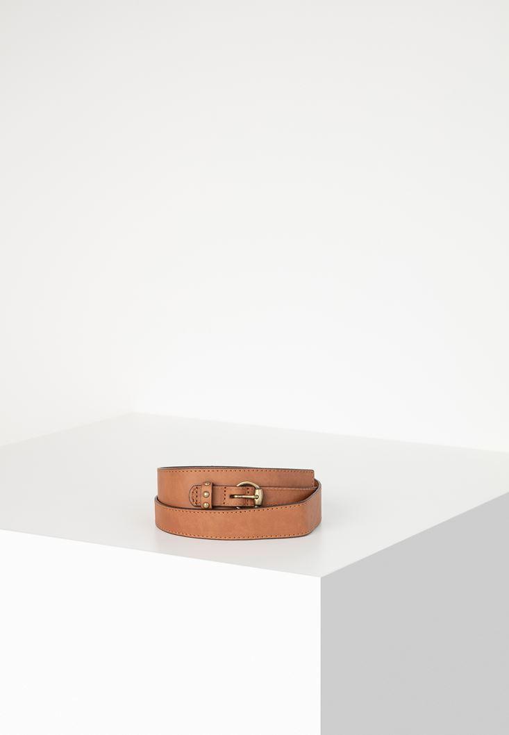 Brown Belt with Metal Details
