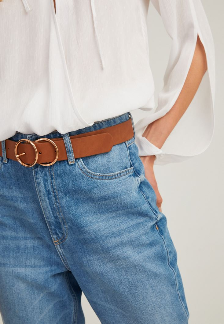 Brown Belt with Double Buckle