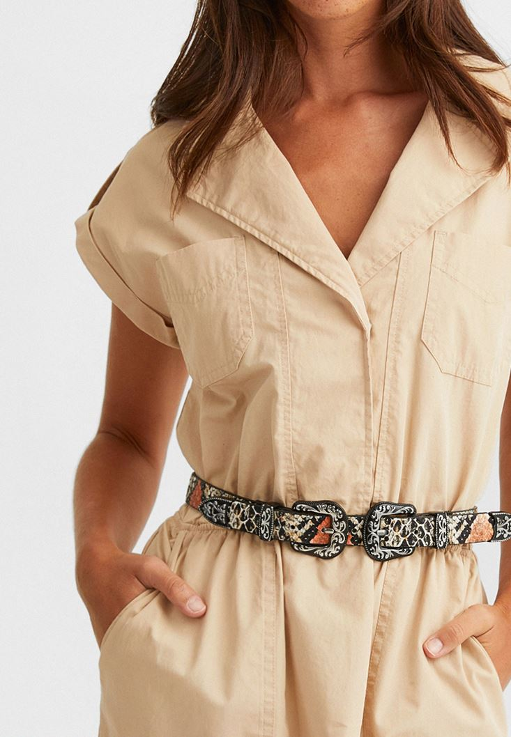 Brown Snake Skin Belt