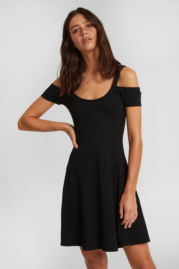 Black Mini Dress with Cut-outs