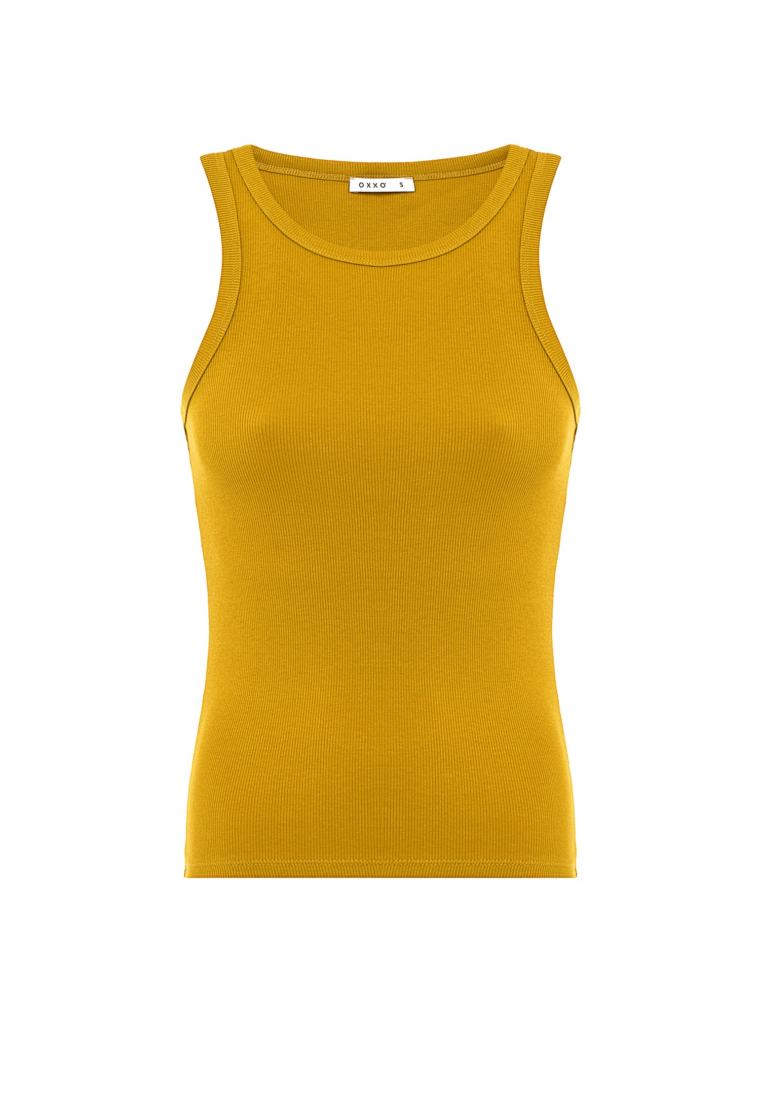 Bayan Sarı Halter Yaka Atlet