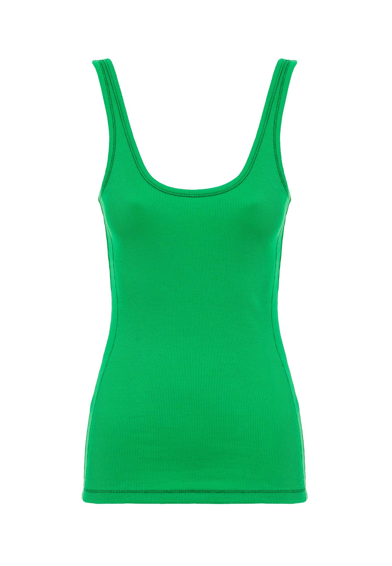 Bayan Yeşil U Yaka Atlet