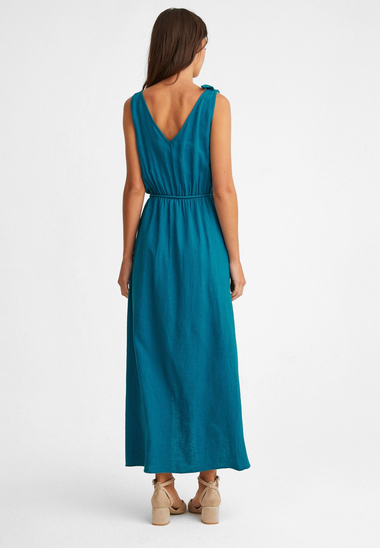 263637bbcc094 Mavi Bağlama Detaylı Şort Elbise Online Alışveriş 19YOX-KENSHORTEL ...