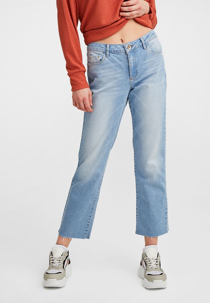 Mavi Crop Straight Denim