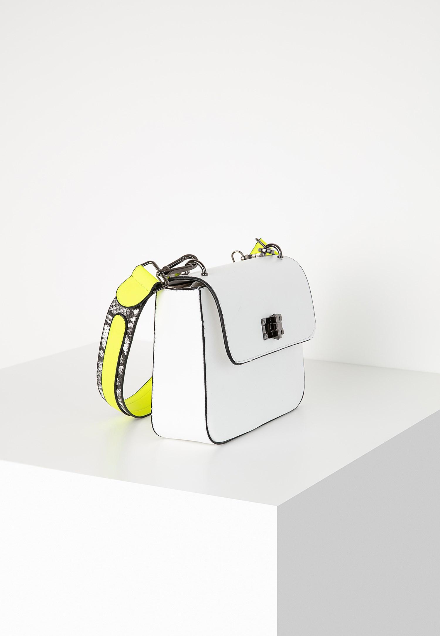 Bayan Beyaz Neon Detaylı Kol Çantası