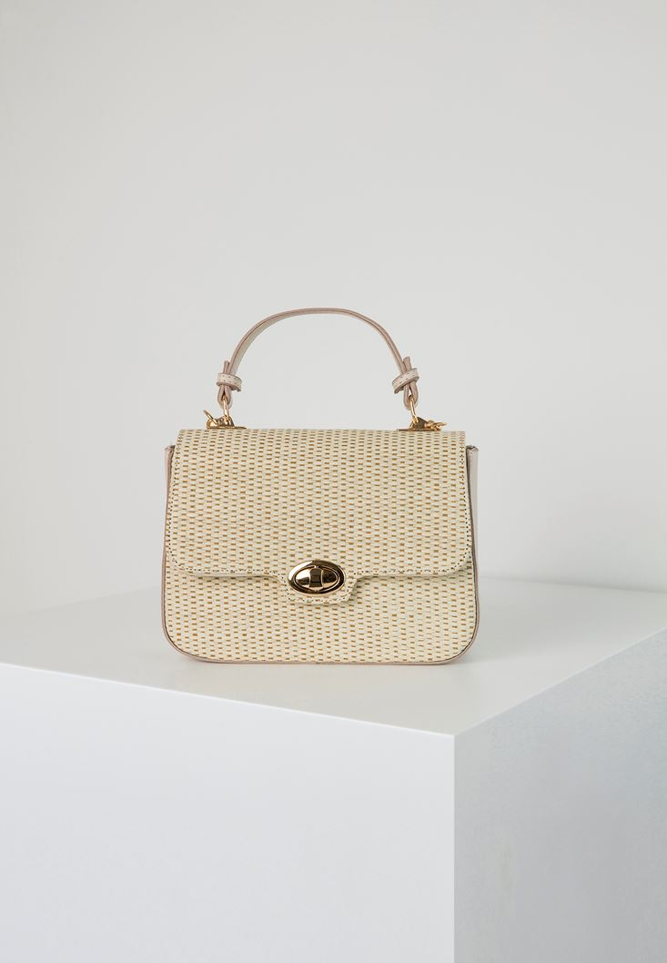 Cream Straw Handbag