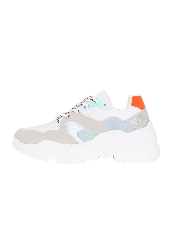 Sneakers with Iridescant Details