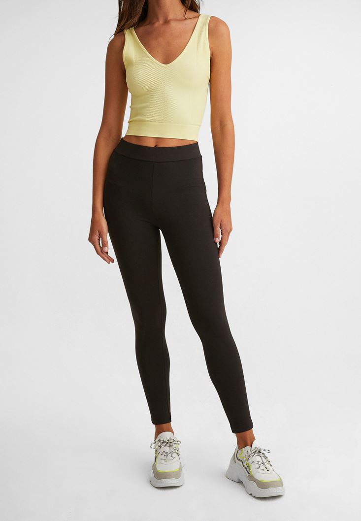 Black Mid-Rise Leggings