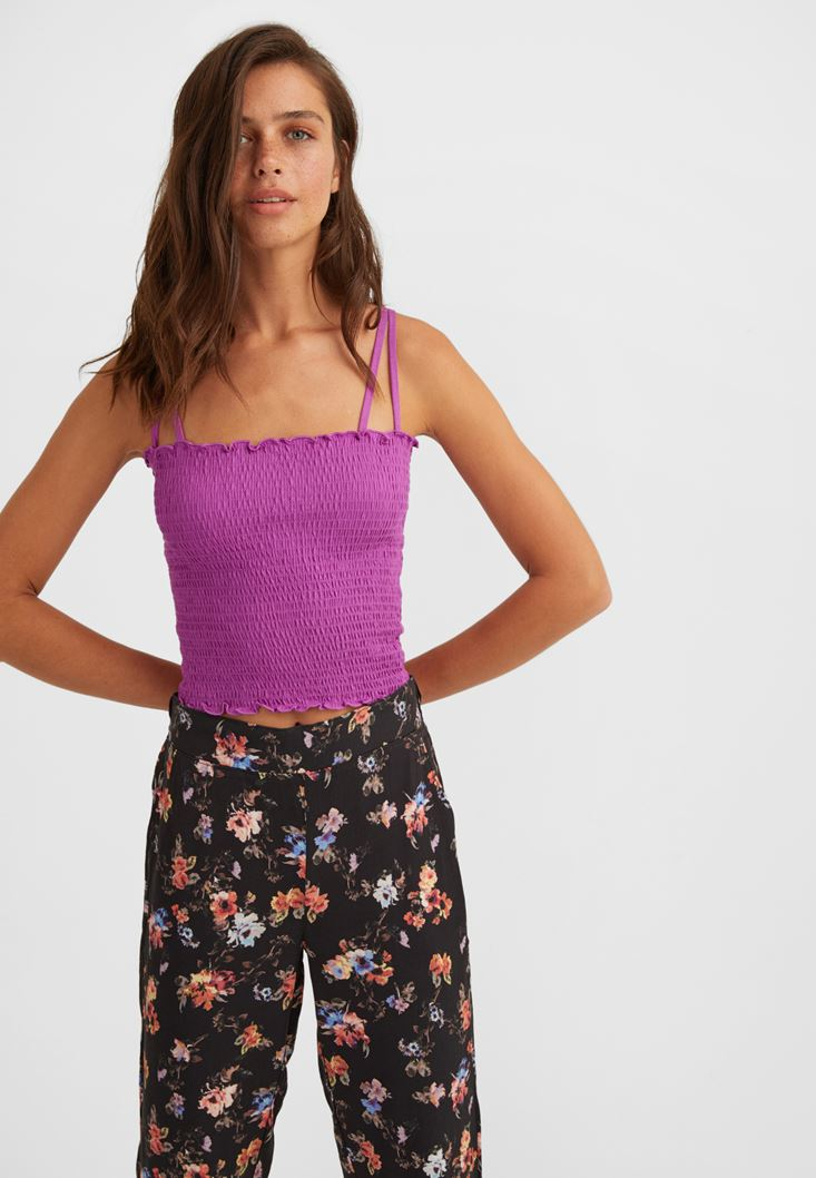 Purple Smocked Top